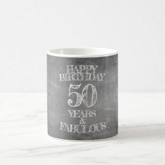 Happy Birthday - 50 Years & Fabulous Magic Mug