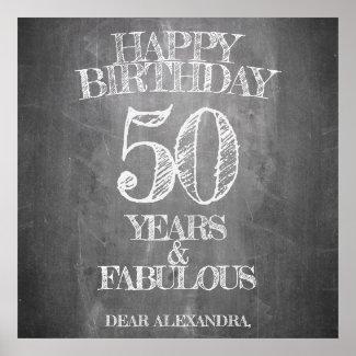 Happy Birthday - 50 Years & Fabulous Poster