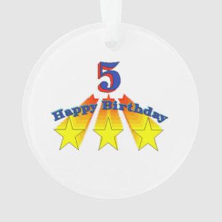 Happy Birthday 5-year-old Ornament