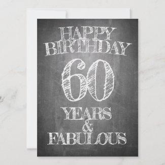 Happy Birthday - 60 Years & Fabulous