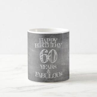Happy Birthday - 60 Years & Fabulous Magic Mug