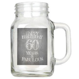 Happy Birthday - 60 Years & Fabulous Mason Jar