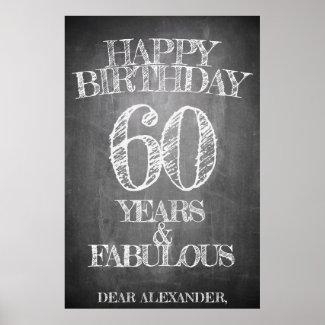 Happy Birthday - 60 Years & Fabulous Poster