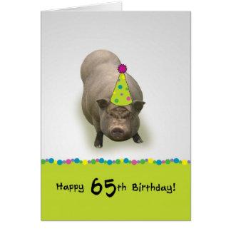 Happy Birthday 65, Sweet Celebration Greeting Card