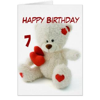 Happy 7th Birthday Cards, Happy 7th Birthday Card Templates, Postage ...