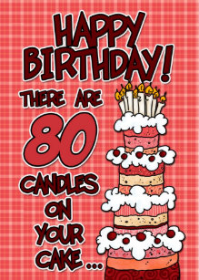80 Year Old Birthday Cake Gifts On Zazzle