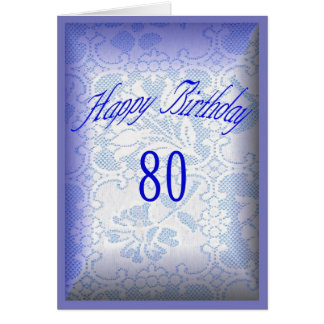 Happy Birthday 80 years old Card