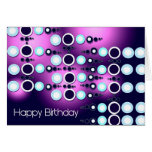 Happy Birthday 80s Retro Card