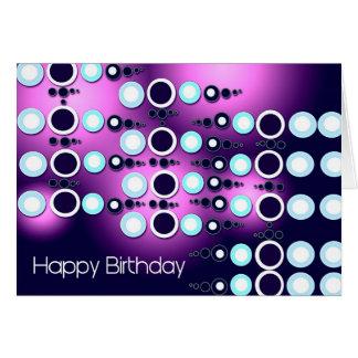 Happy Birthday 80s Retro Card