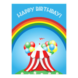 "Happy birthday 8.5"" x 11"" flyer"