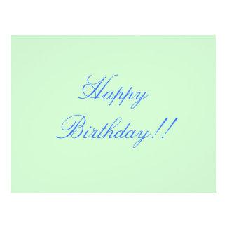 "Happy Birthday!! 8.5"" X 11"" Flyer"