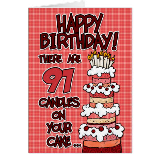 Happy Birthday - 91 Years Old Cards
