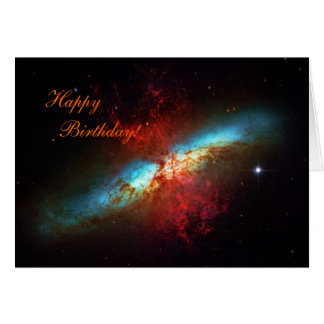 Happy Birthday - A Starburst Galaxy Greeting Card