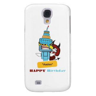 happy birthday aaden galaxy s4 case