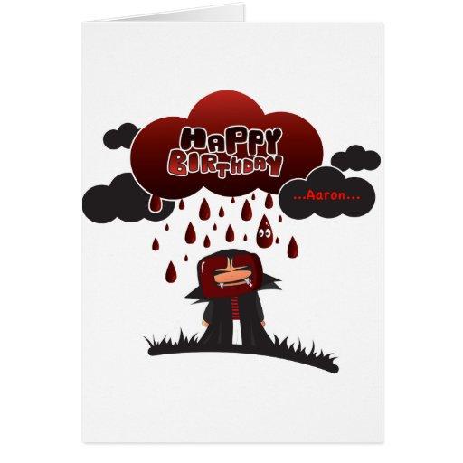 happy birthday Aaron Greeting Card