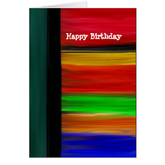 Happy Birthday Abstract Card