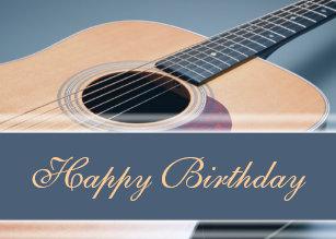 Acoustic Guitar Birthday Cards Zazzle