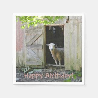 Happy Birthday Adorable Sheep Napkin