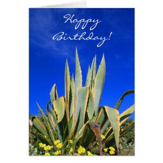 Happy Birthday Agave Plant greeting card