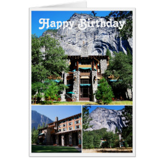 Happy Birthday Ahwahnee Hotel in Yosemite Card