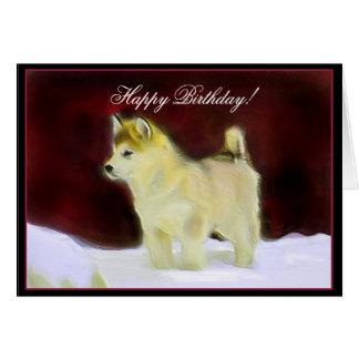 Happy Birthday Alaskan Malamute greeting card