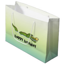 Happy Birthday Alligator Large Gift Bag