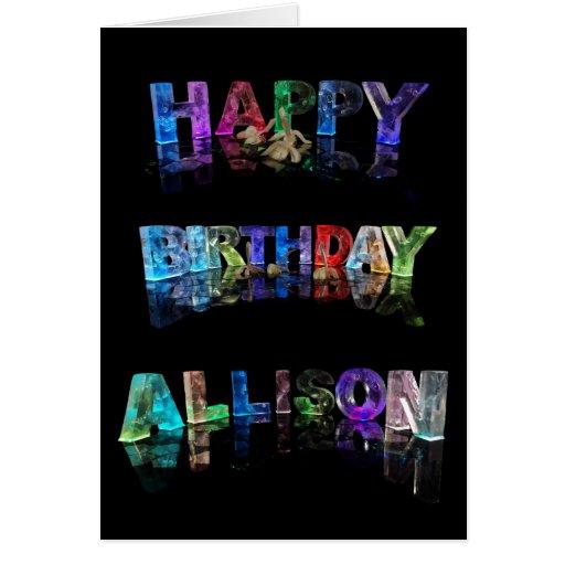 Happy birthday allison card zazzle