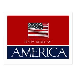 Happy birthday America 4th July Postcard