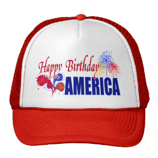 Happy Birthday America 4th of July Hat