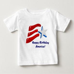 Happy Birthday America Baby T Shirt