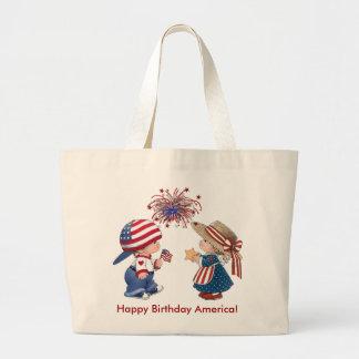 Happy Birthday America Jumbo Tote Bag