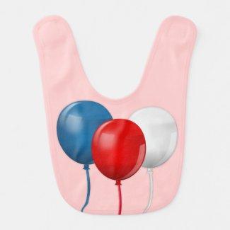 Happy Birthday America (Balloons) Baby Bib