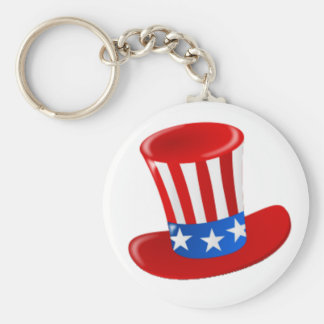 Happy Birthday America! Basic Round Button Keychain