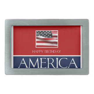 Happy Birthday America! Belt Buckle