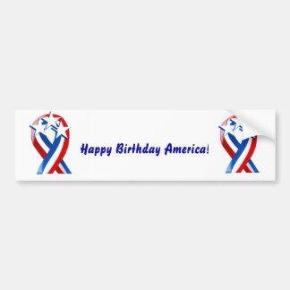 Happy Birthday America! Car Bumper Sticker