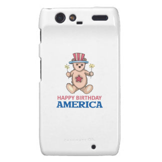Happy Birthday America Motorola Droid RAZR Cases
