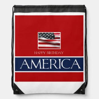 Happy Birthday America! Drawstring Backpack
