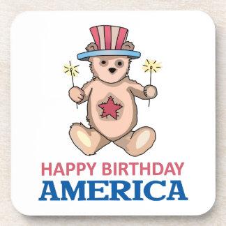 Happy Birthday America Drink Coasters