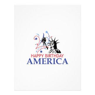 HAPPY BIRTHDAY AMERICA CUSTOMIZED LETTERHEAD