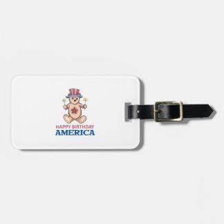 Happy Birthday America Luggage Tag