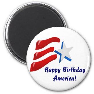 Happy Birthday America! 2 Inch Round Magnet