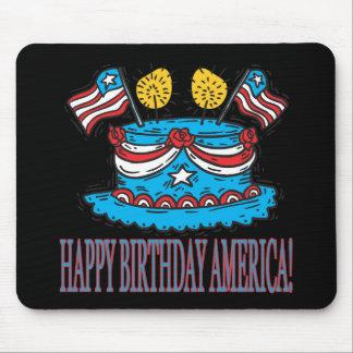 Happy Birthday America Mouse Pad