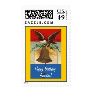 Happy Birthday, America! Postage Stamp