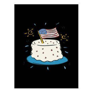 Happy Birthday America Postcard