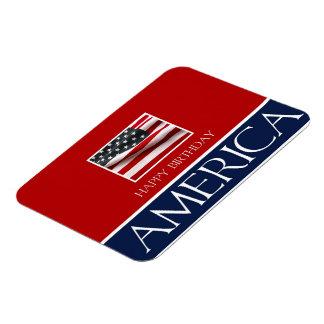 Happy Birthday America! Rectangular Photo Magnet