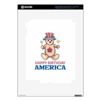 Happy Birthday America Decal For iPad 3