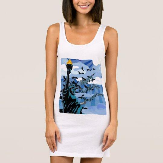Happy Birthday America Sleeveless Dress