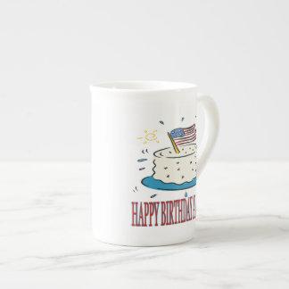 Happy Birthday America Bone China Mugs