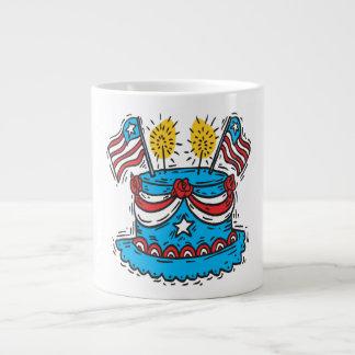 Happy Birthday America Jumbo Mugs