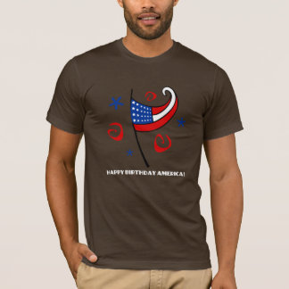 Happy Birthday America (Stars & Swirls) T-Shirt